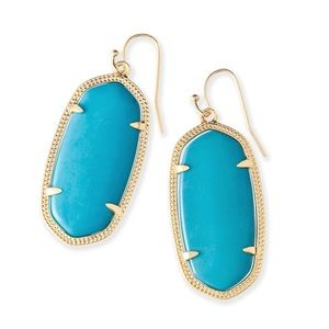 Gold and turquoise Kendra Scott Teal Earrings 💛